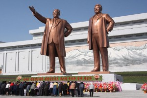 The statues of North Korean leaders
