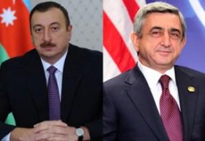 Ilham Aliyev and Serge Sargsyan