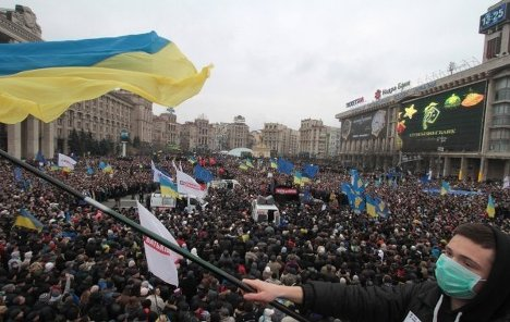 Thousands protest against the Ukrainian government for not singing the EU agreement