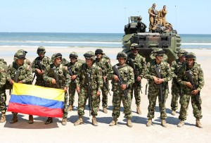 Colombian marines from Special Purpose Marine Air Ground Task Force