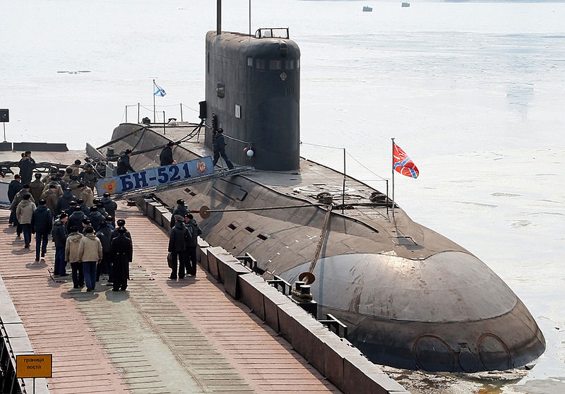 The first Russian-made submarine purchased by Vietnam arrived at Cam Ranh