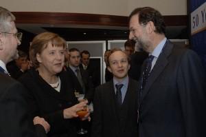 Rajoy with Merkel in 2007