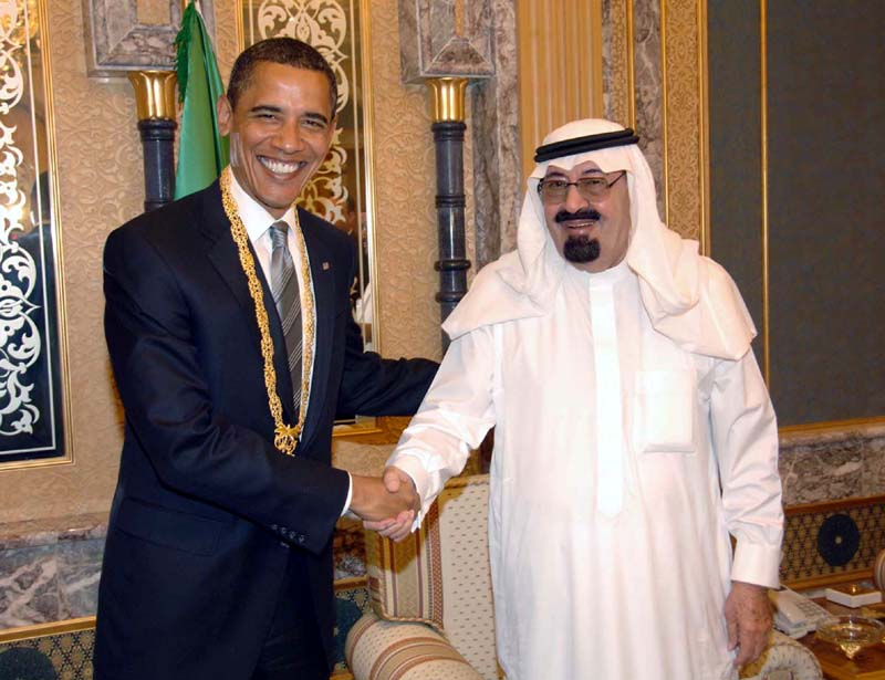 President Obama meets with King Abdullah of Saudi Arabia