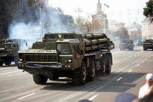 Ukrainian army BM-30 Smerch parade