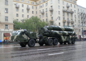 S-400 Triumf air defense missile system manufactured by Almaz-Antey