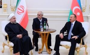 President Aliyev hosts President Rouhani in Baku (Image: Courtesy of Presidency of Azerbaijan)
