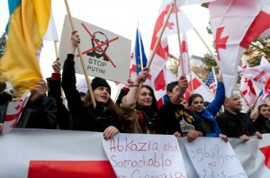 Georgians protest against Moscow's policies (Image: Eana Korbezashvili/Civil.ge)