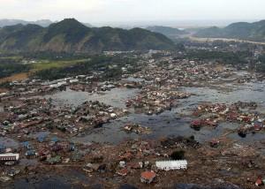 Devastated area in Aceh, Indonesia
