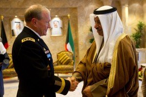US Chairman of the Joint Chiefs of Staff, Martin Dempsey, with Kuwaiti PM Jaber Al-Mubarak Al-Sabah in 2011. (Photo: Courtesy of Wikipedia)