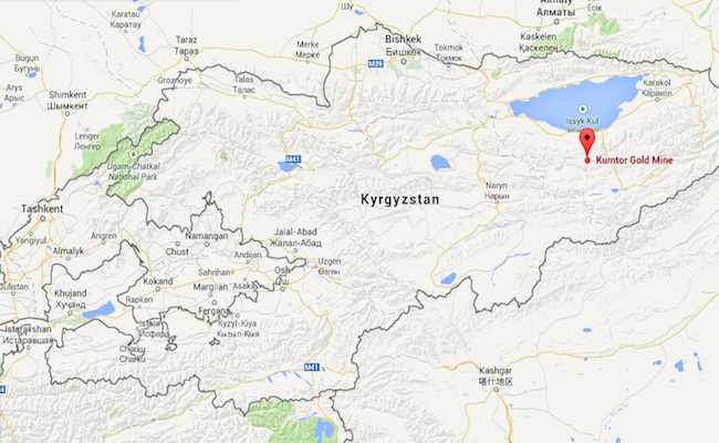 Kumtor Gold Mine (Google Maps)