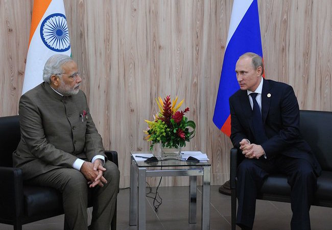 Prime Minister of India, Narendra Modi with President of Russia, Vladmir Putin (Photo: Courtesy of WikiCommons)