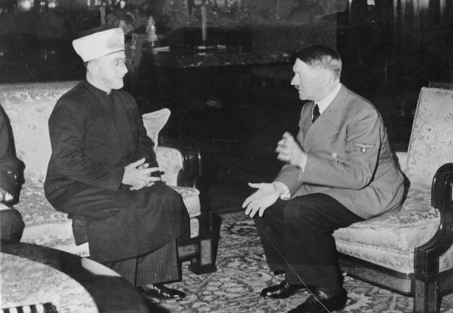 Haj Amin al-Husseini meeting with Adolf Hitler (December 1941) (Photo: Courtesy of WikiCommons)