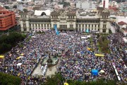 Massive turnout in Guatemala demanding president Perez Molina steps down