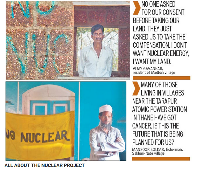 Ratnagiri villagers fight on against Jaitapur nuclear power project (Source: Hindustan Times)