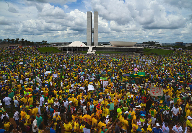 """""""Dilma Out"""", was voiced by hundreds of thousands across Brazil"""