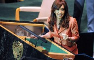 Cristina Fernandez points her guns to the US and 'vulture funds', but no word on the Falklands