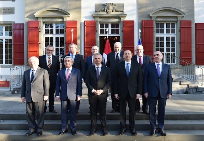 Azerbaijani and Armenian leaders hold talks over Nagorno Karabakh in Switzerland