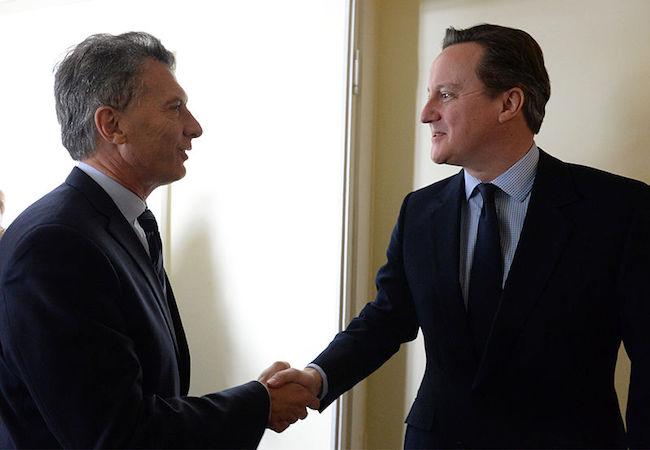 UK position on Falklands remains as expressed by 2013 referendum, Cameron tells Macri