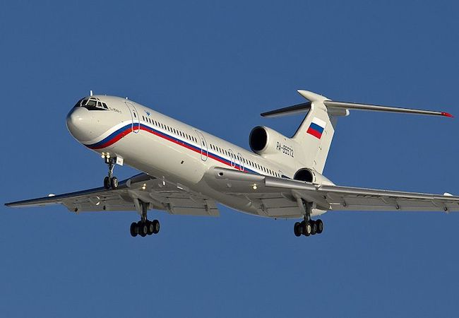 Russia's TU-154 military plane crashes en route to Syria killing 92
