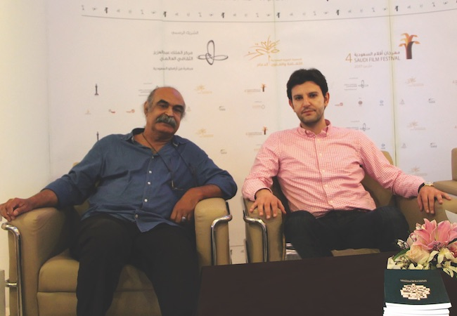 Woodman discusses poetry with Bahraini poet Qassim Haddad